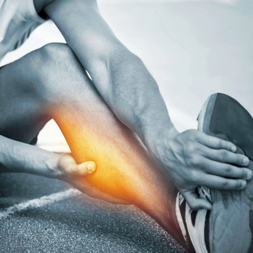 A patient suffering with muscle injuries. Treatments are available from Tom Claykens at Biddenden Chiropractic.