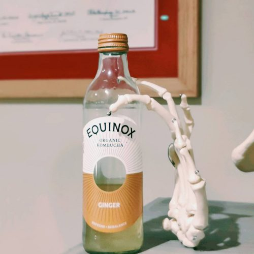 Equinox Organic Kombucha. A great organic ginger drink to keep you healthy during the winter. Health advice from Biddenden Chiropractic.