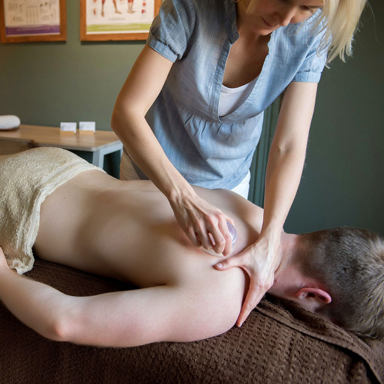 Rebecca Wissman shoulder massage at Biddenden Chiropractic. We offer a range of treatments for back, shoulder, knee and neck pain.